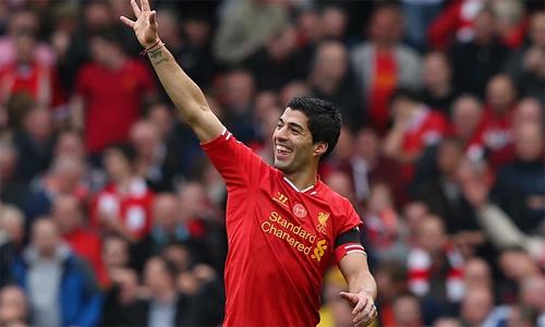 Suarez thời đỉnh cao là cầu thủ rất được yêu thích tại Liverpool. Ảnh: Reuters