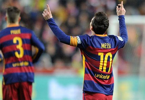 Messi tiếp tục tự phá kỷ lục ghi bàn tại Liga khi trở thành người đầu tiên đạt đến mốc 300. Ảnh: Reuters