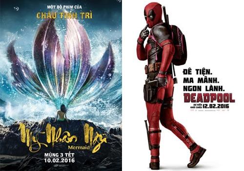 """""""Mỹ nhân ngư"""" và """"Deadpool"""" - hai bộ phim hot nhất mùa Tết năm nay."""